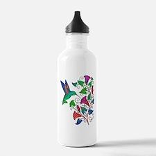 Rainbow Hummingbird on Trumpet Vine Water Bottle