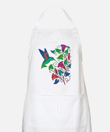 Rainbow Hummingbird on Trumpet Vine Apron