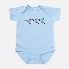 Trio of Raspberry Mint Sorbet Hummingbirds Infant