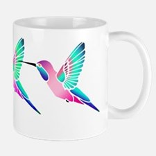 Trio of Raspberry Mint Sorbet Hummingbirds Mug