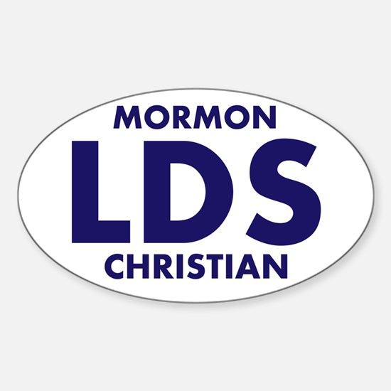 LDS Mormon Christian Sticker (Oval)