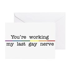 Last Gay Nerve Greeting Cards (Pk of 10)
