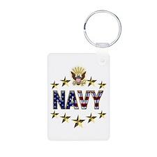 USN Flag Stars Eagle Keychains