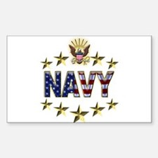 USN Flag Stars Eagle Decal