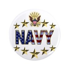 "USN Flag Stars Eagle 3.5"" Button (100 pack)"