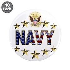 "USN Flag Stars Eagle 3.5"" Button (10 pack)"