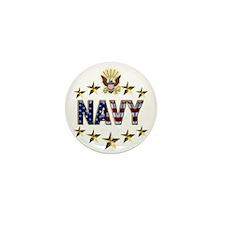 USN Flag Stars Eagle Mini Button