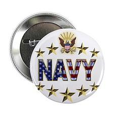 "USN Flag Stars Eagle 2.25"" Button"