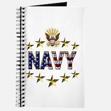 USN Flag Stars Eagle Journal