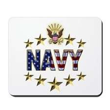 USN Flag Stars Eagle Mousepad