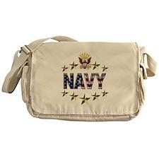 USN Flag Stars Eagle Messenger Bag