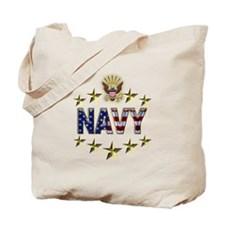 USN Flag Stars Eagle Tote Bag