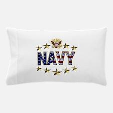 USN Flag Stars Eagle Pillow Case