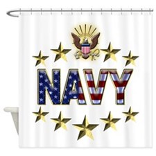 USN Flag Stars Eagle Shower Curtain