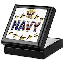 USN Flag Stars Eagle Keepsake Box