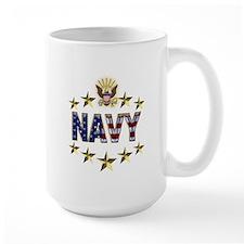 USN Flag Stars Eagle Mug