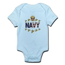 USN Flag Stars Eagle Infant Bodysuit
