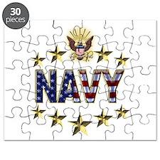 USN Flag Stars Eagle Puzzle