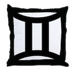 Gemini Symbol Throw Pillow