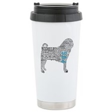 Pug Typography Travel Coffee Mug