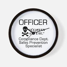 Compliance Officer Wall Clock