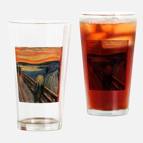 the scream by edvun munch Drinking Glass