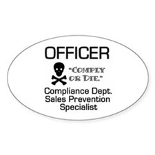 Compliance Officer Oval Decal