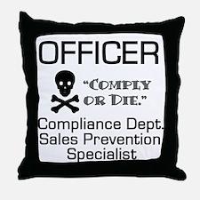 Compliance Officer Throw Pillow
