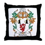 Newton Coat of Arms Throw Pillow