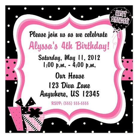 Invitations for Birthday Birthday Announcements CafePress