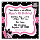 Girls 4th birthday Invitations & Announcements