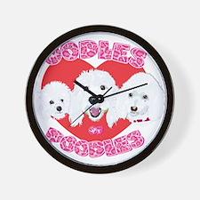 OodlesofPoodles1no tags.png Wall Clock