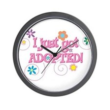 JUSTADOPTED33.png Wall Clock