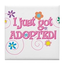 JUSTADOPTED33.png Tile Coaster