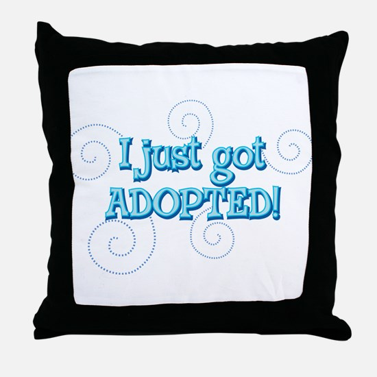 JUSTADOPTED22.png Throw Pillow