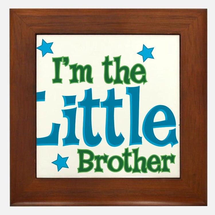 Im the Little Brother.png Framed Tile