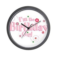 Birthday girl 3.png Wall Clock
