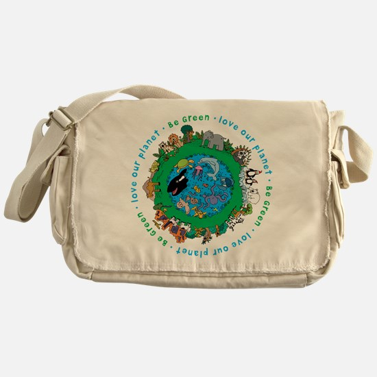 BEGREENLUV.png Messenger Bag