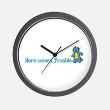 HereComesTrouble2.png Wall Clock