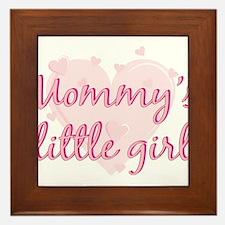 mommys little girl.png Framed Tile