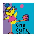 One Cute Chick.png Tile Coaster