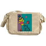 One Cute Chick.png Messenger Bag