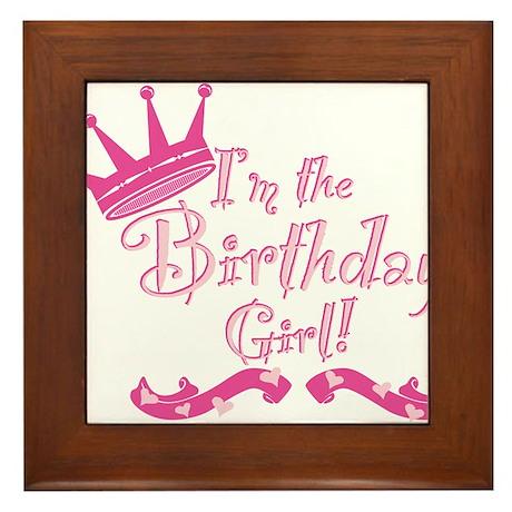 Birthday Girl.png Framed Tile