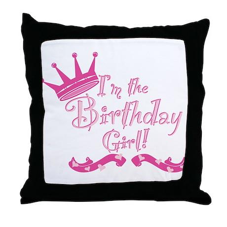Birthday Girl.png Throw Pillow