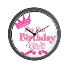 Birthday Girl 2.png Wall Clock