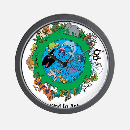 Be Kind To Animals.png Wall Clock