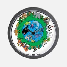 SAVE THE PLANET.png Wall Clock