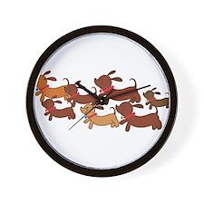 Running Weiner Dogs.png Wall Clock