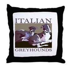 ITALIANGREYS22.png Throw Pillow
