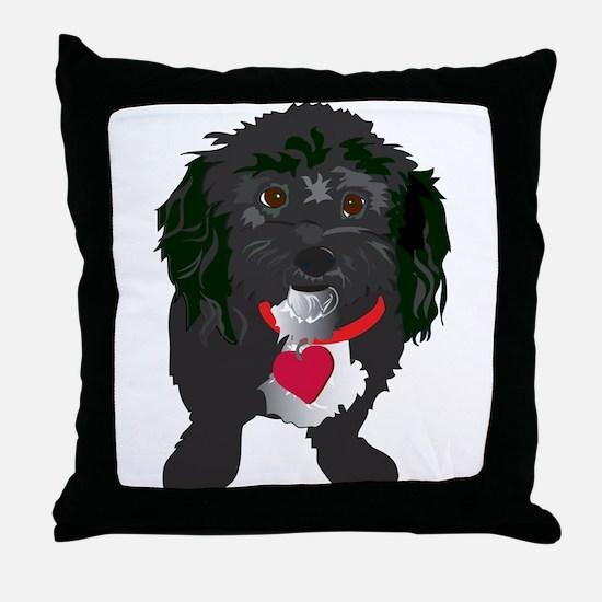 BLACKDOG.png Throw Pillow